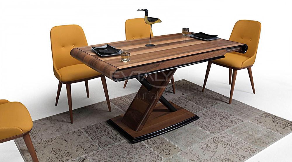 prada mutfak masa sandalye takimi ceviz sandalye ev dekoru mobilya fikirleri
