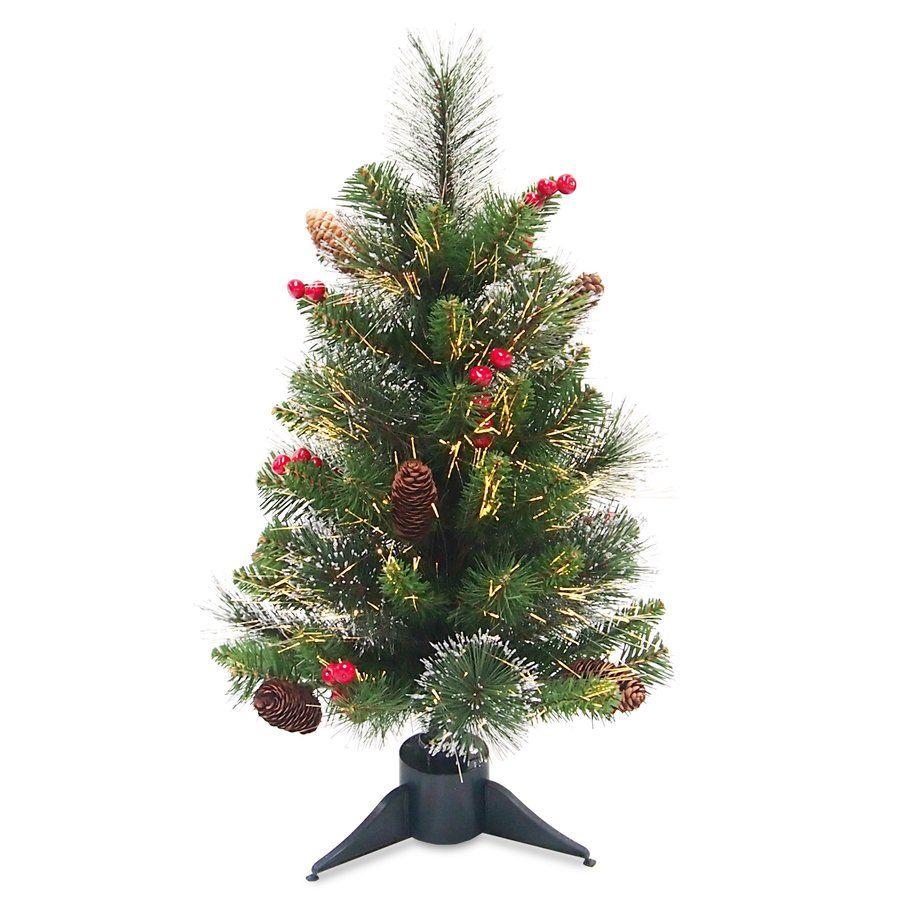 Crestwood Fiber Optic Ice Tree Slim artificial christmas