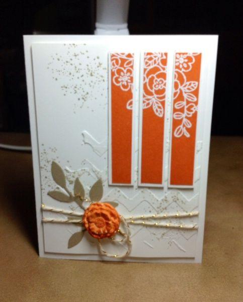Perfeito laranja com branco!