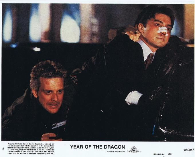 YEAR OF THE DRAGON -'85- 6 Orig 8x10 Lobby Cards -MICKEY ROURKE- Asian Gangsters