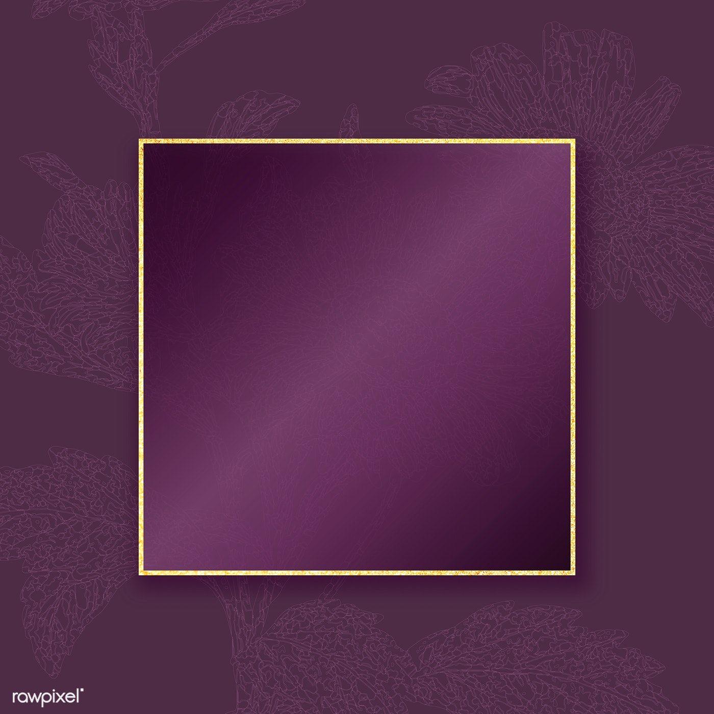 Download Premium Vector Of Elegant Gold Frame On Floral Pattern Background Background Patterns Photo Frame Design Vector Background Pattern