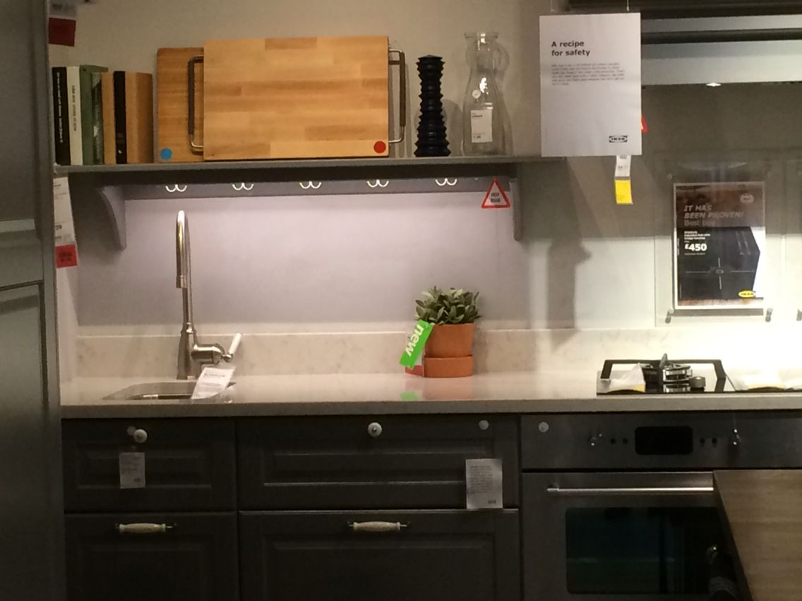 IKEA worktop with upstand  Ikea worktop, Kitchen cabinets, Kitchen