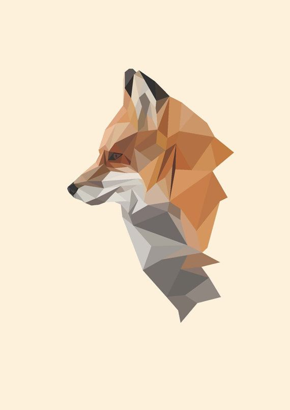 Fox Illustration Poster By Nordster On Etsy Animal Wallpaper Artwork