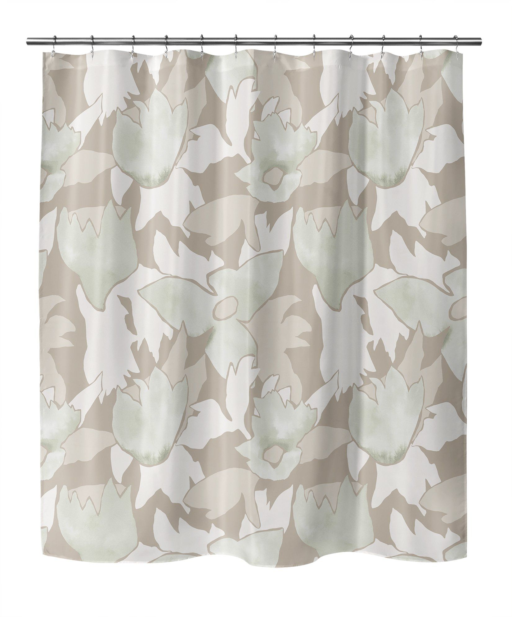 Photo of TRILLIUM BEIGE Shower Curtain By Becky Bailey – 70in x 72in