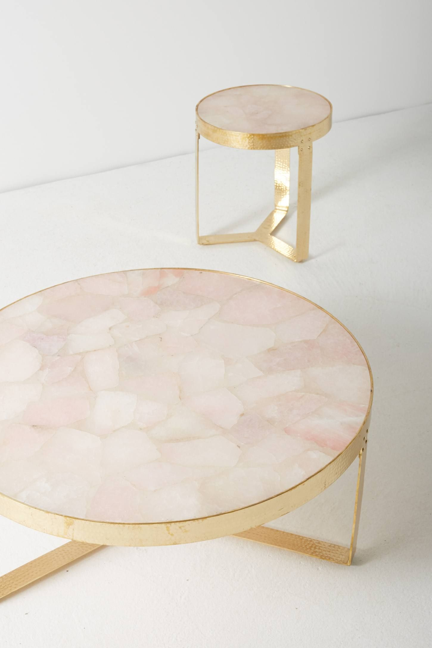 - Lirit Coffee Table Stone Coffee Table, Metal Side Table, Decor