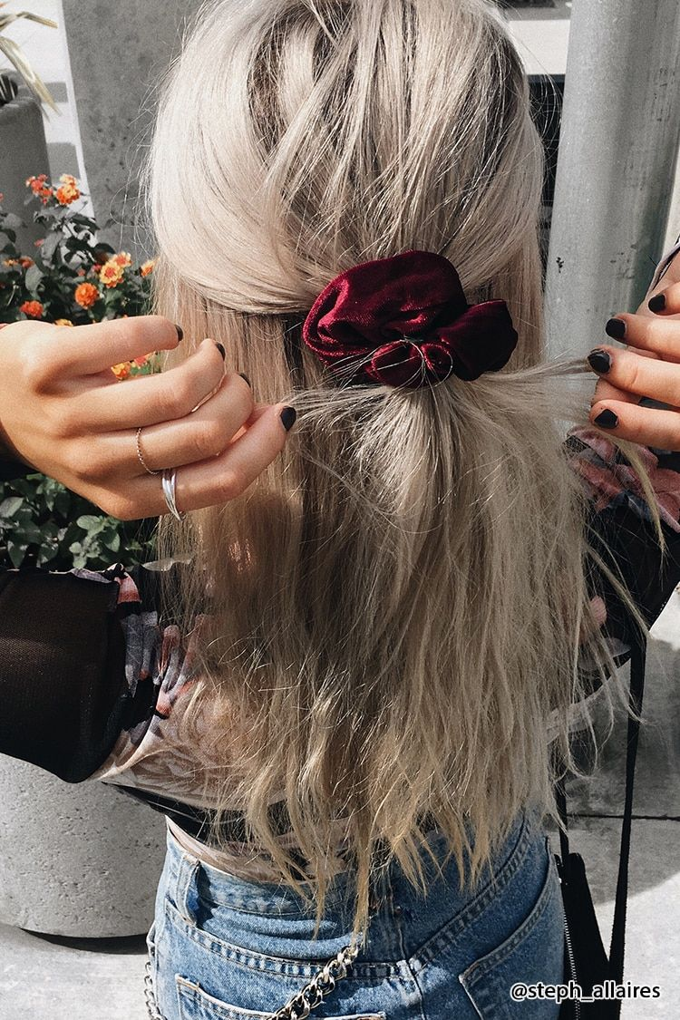 Product Name:Velvet Scrunchie Category:ACC Price:2 9 Scrunchie hairstyles Hair styles Hair