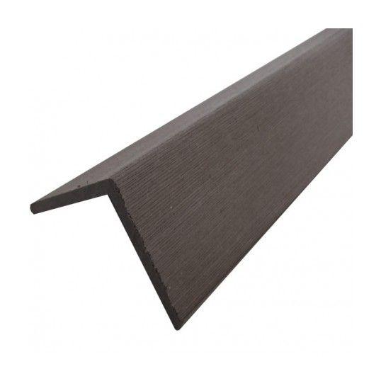 Profil D Angle Bois Composite Pour Bardage Coloris Gris Anthracite Epaisseur 6 Cm Largeur 6 Cm Longueur 200 Cm 4206158 Bois Bardage Epaisseur