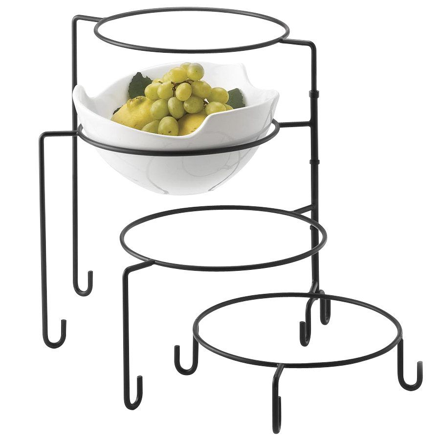 Build dazzling food displays with this black Tablecraft BKP4 four tier metal display stand. Perfect  sc 1 st  Pinterest & Tablecraft BKP4 4 Tier Metal Display Stand Black   Display