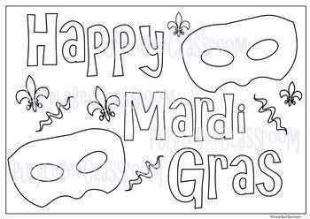 Mardi Gras Coloring Page Coloring Pages Mardi Gras Mardi