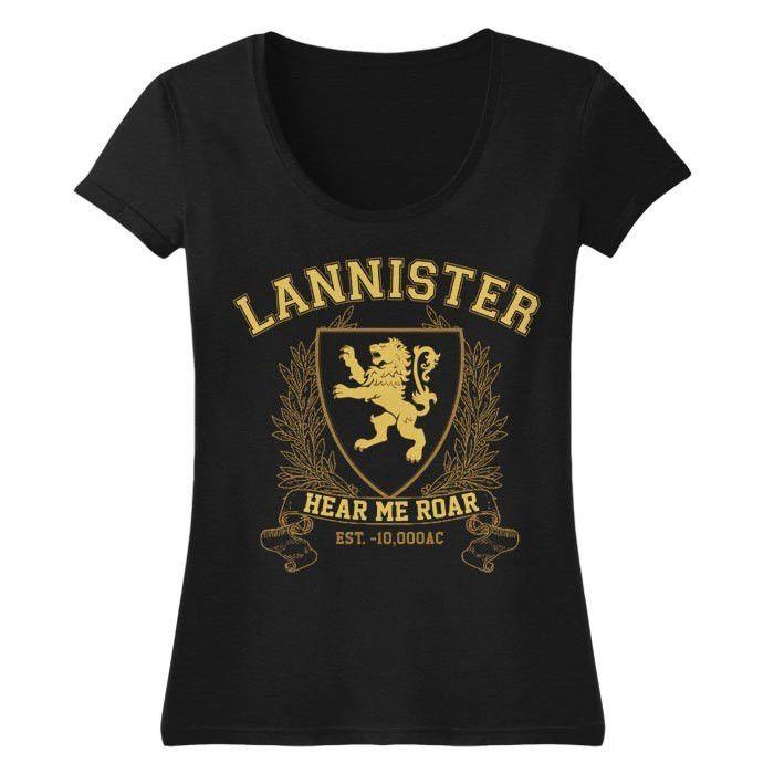Lannister University (Gold) - Women's Scoopneck T-Shirt