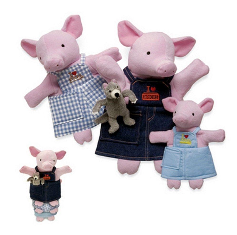 PuppetU.com - Three Little Pigs Story Puppets Nesting Set, $32.99 (http://store.puppetu.com/three-little-pigs-story-puppets-nesting-set/)