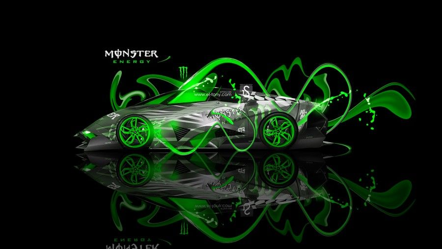 Monster Energy Lamborghini Egoista Fantasy Neon Plastic Car 2013   Monster Energy  Lamborghini Miura Up Home Car Energy Lamborghini Sesto Elemento Fantasy ...