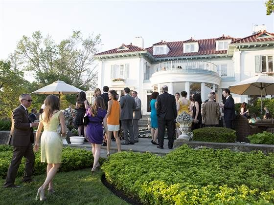 Guests make their way to the cocktail hour, held at Kathie Lee's home.
