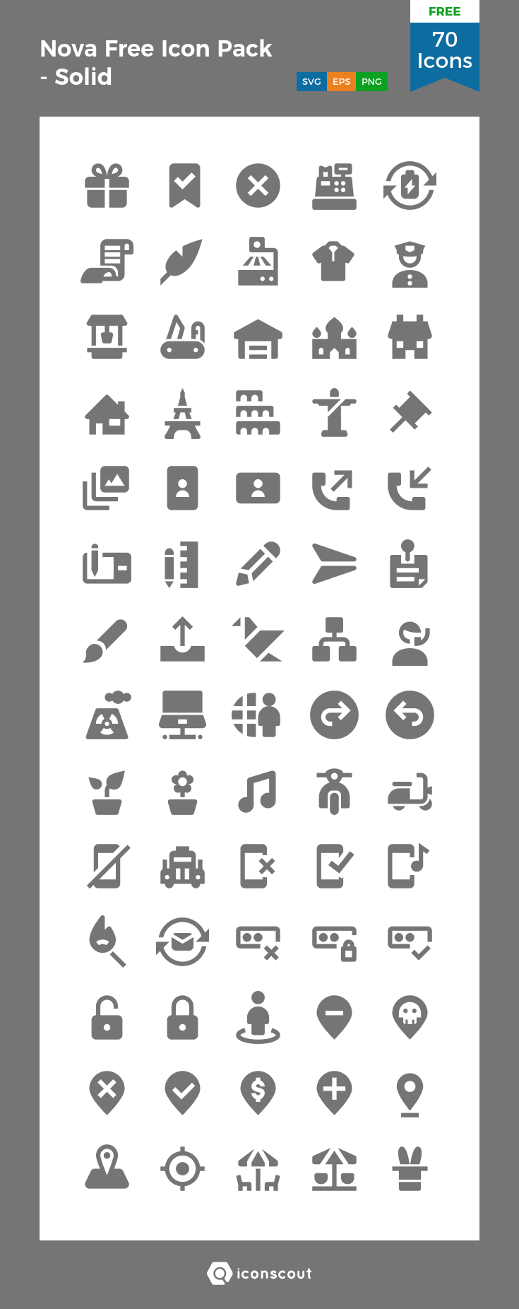 Download Download Nova Free Icon Pack - Solid Icon pack - Available ...