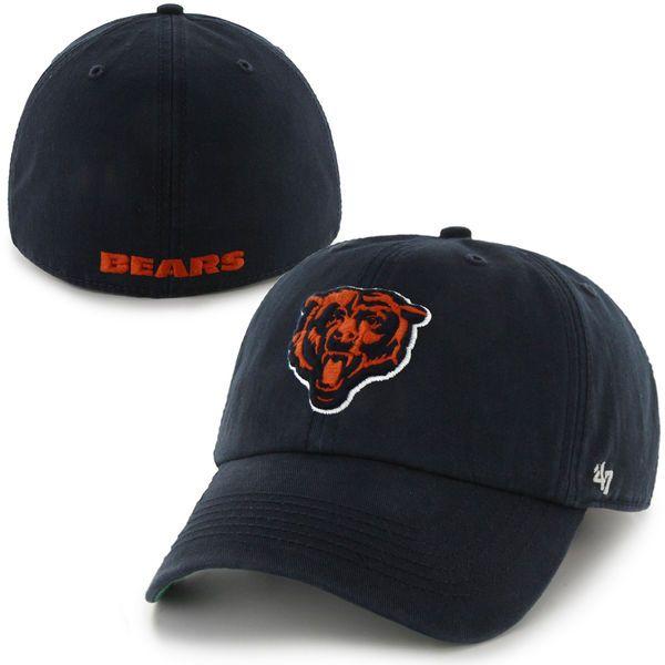 5489d6207 Chicago Bears  47 Brand Team Logo Franchise Fitted Hat – Navy Blue -  Fanatics.com