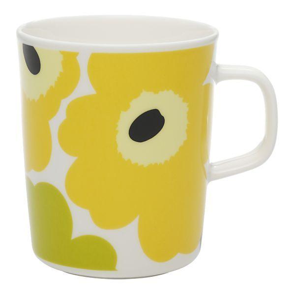 Marimekko Unikko Lime Mug    $20.00