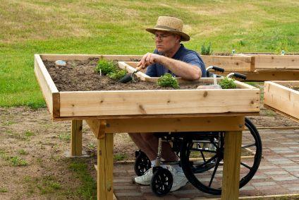 Wheelchair gardening what a great idea lpv for Garden design ideas for disabled