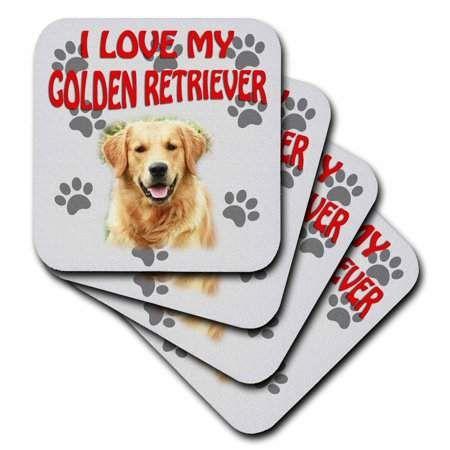 Golden Retriever 3drose I Love My Canvas Cute Dog Soft