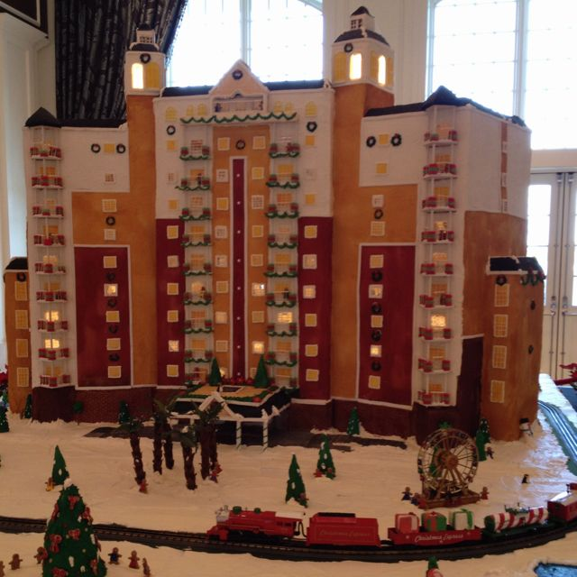Gingerbread replica of our condo in Kissimmee, FL!
