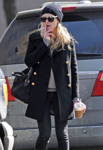 cold weather style ( minus the smoking..)   Style ...