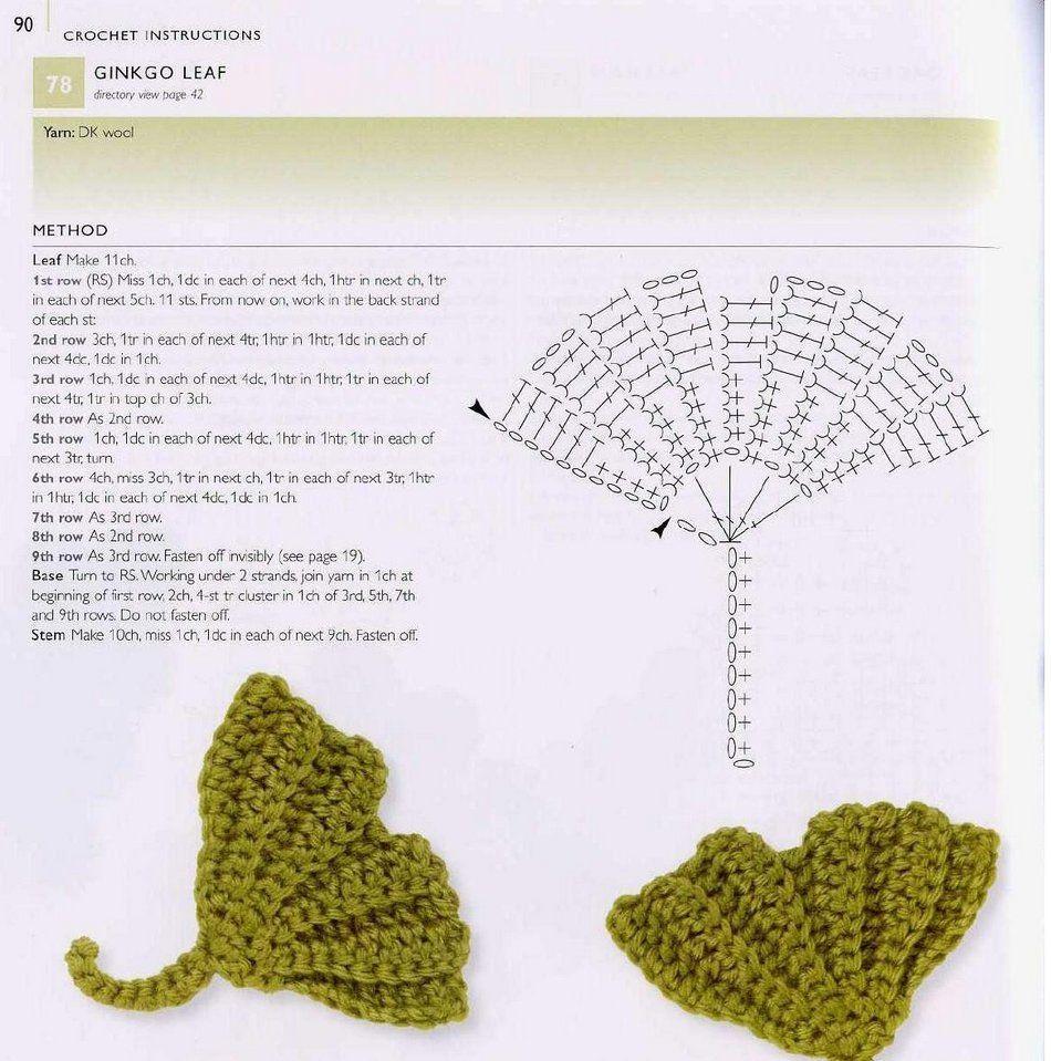 Pin de nancy didden en crochet leaves | Pinterest | Tejido ...