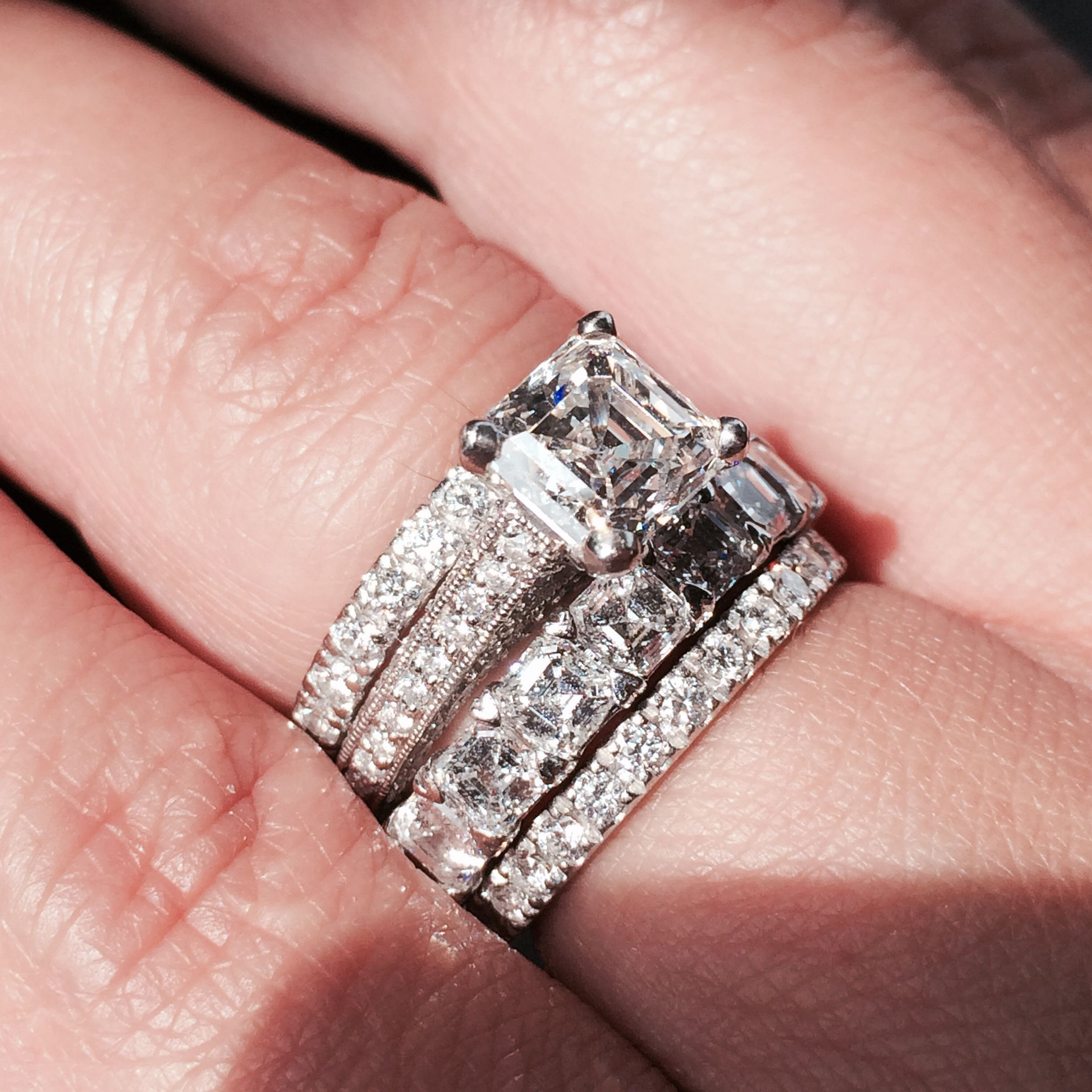Mouradian Jeweler in Boston. 2 carat Asscher Engagement Pave Ring ...