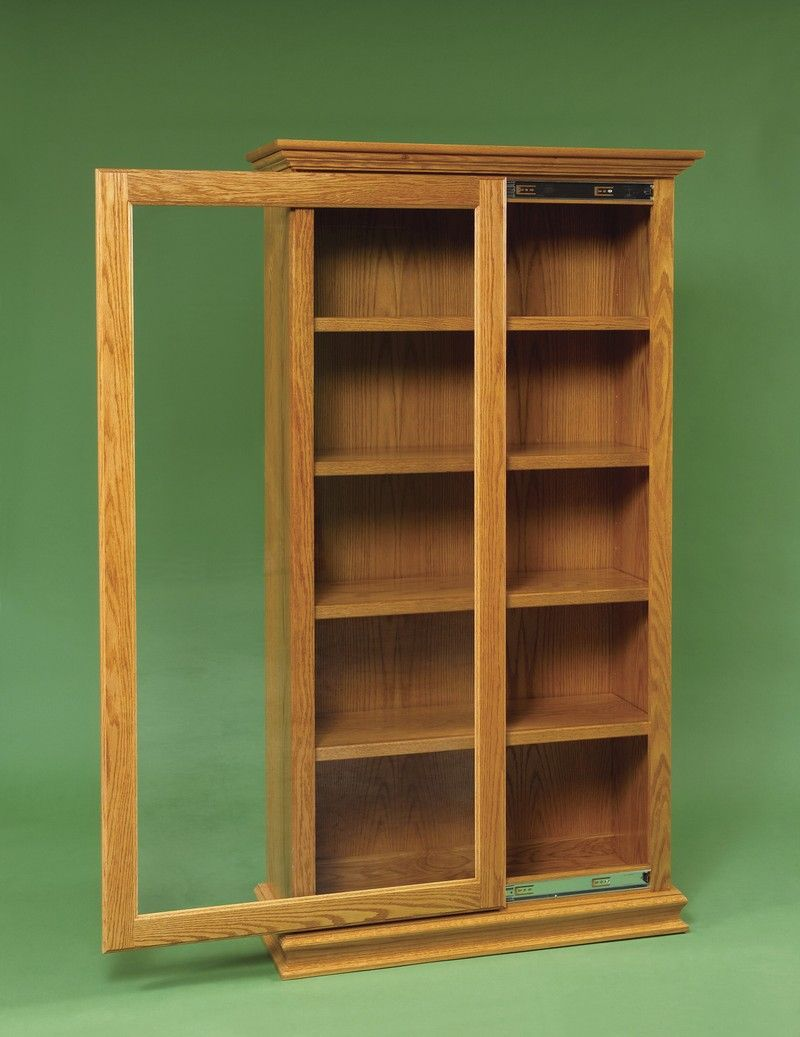 Amish Sliding Door Large Bookcase Kitapliklar