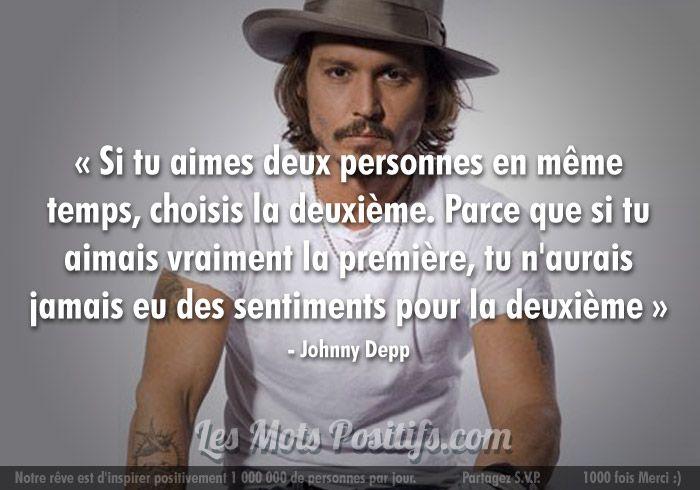 L Amour Selon Johnny Depp Aimer Deux Personnes Belles Citations