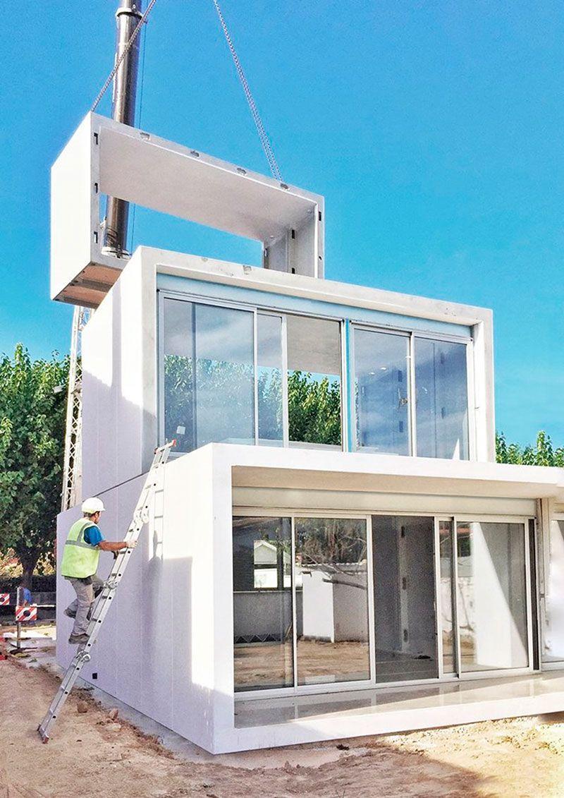 Smartliving casa modular sistema montage vivienda - Contenedores casas prefabricadas ...