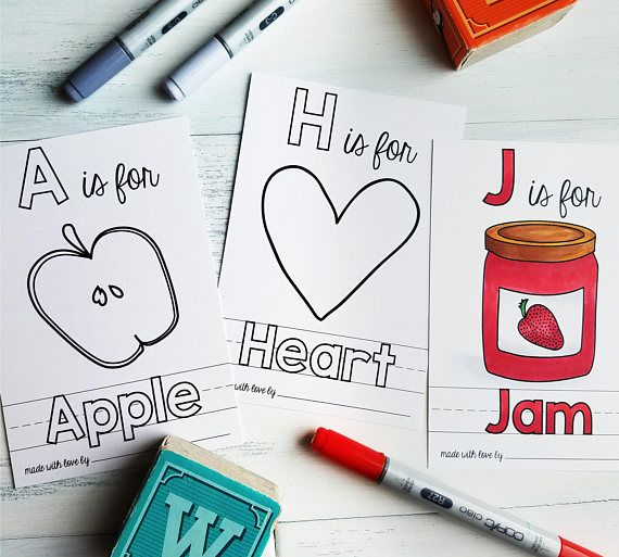 Abc Book Baby Shower Activity Personalized Alphabet Coloring Etsy Baby Shower Book Baby Shower Activities Abc Book