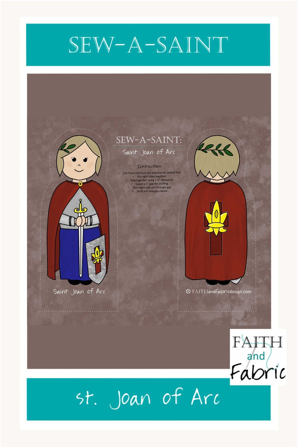 Sew A Saint St Joan Of Arc Fabric In