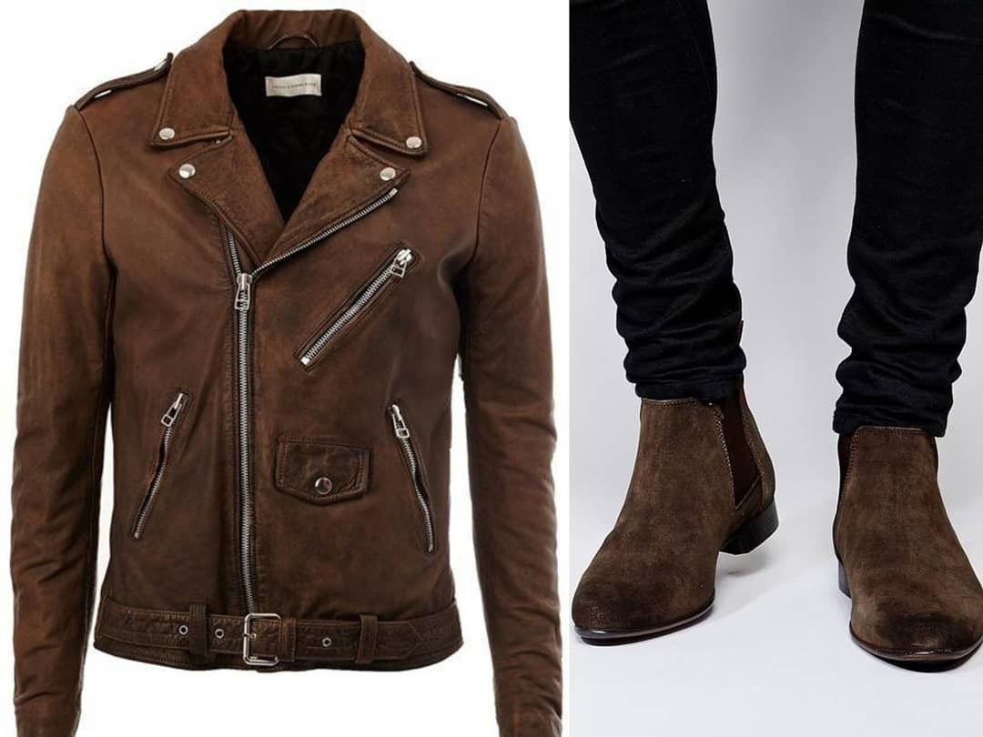 c5fc271e Customized Suede Leather Chelsea Boots & Biker Jacket | Leather ...