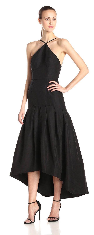Jill jill stuart womenus fit and flare sleeveless faille gown