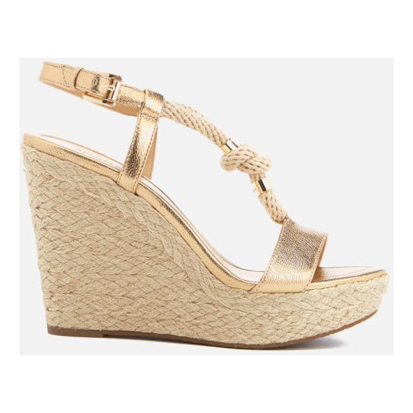 MICHAEL MICHAEL KORS Women's Holly Rope Strap Wedged Sandals