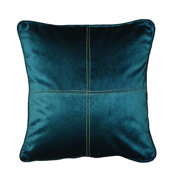 le coussin velours bleu canard surpiqu pour ajouter sa. Black Bedroom Furniture Sets. Home Design Ideas