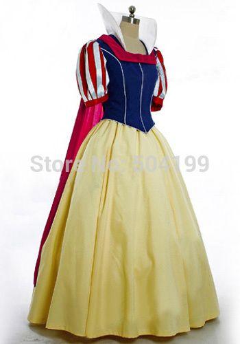 Adult Movie Snow White The Seven Dwarfs Disney Princess Snow White Dress Costume