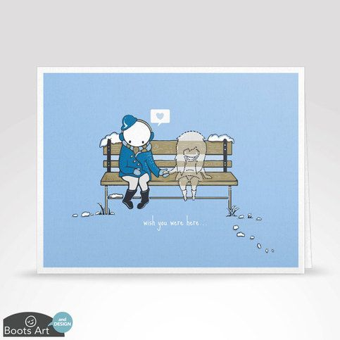"""""""Wish You Were Here""""   The perfect way to tell someone that you miss them. Blank inside so you can write your own personal message.  DIMENSIONS: Folded, this card measures 5.5 in. by 4.25 in. (13.97 cm. x 10.79 cm.)  • Professionally printed on beautiful 80 pound high-quality card stock wit..."""