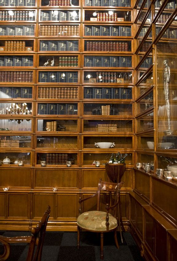 Library Built Entirely From Globe Wernicke Bookcases