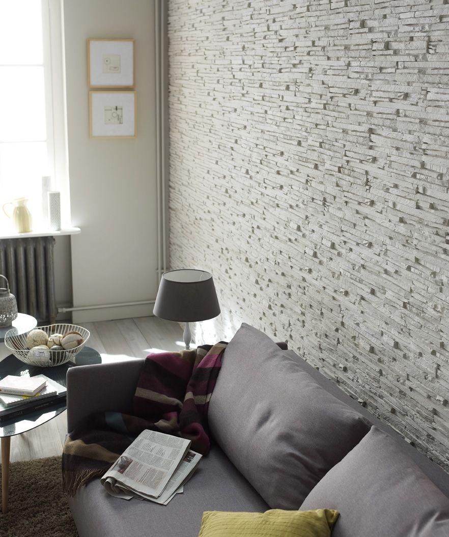La texture du mur l 39 tat brut texture mur pinterest - Mur parement salon ...