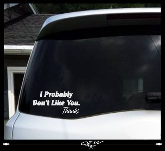 Funny Car Decal Rude Humor Smartass Decals Cocky Vinyl Sticker - Funny car decal stickers