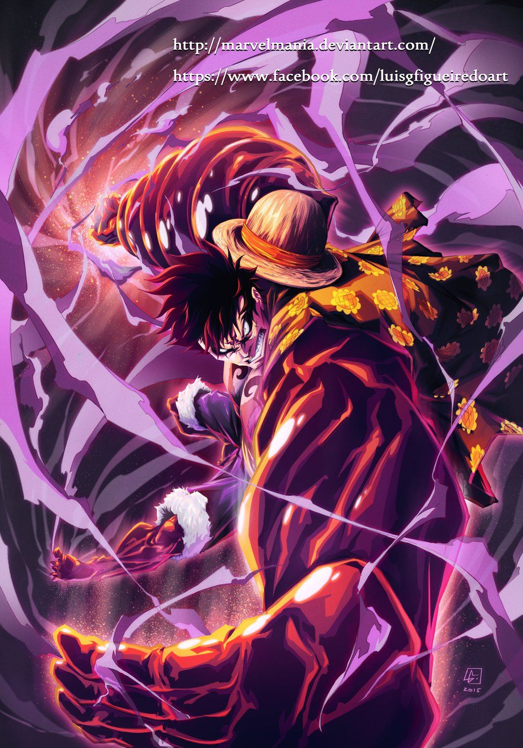 Monkey D Luffy Fourth Gear By Marvelmania Deviantart Com On