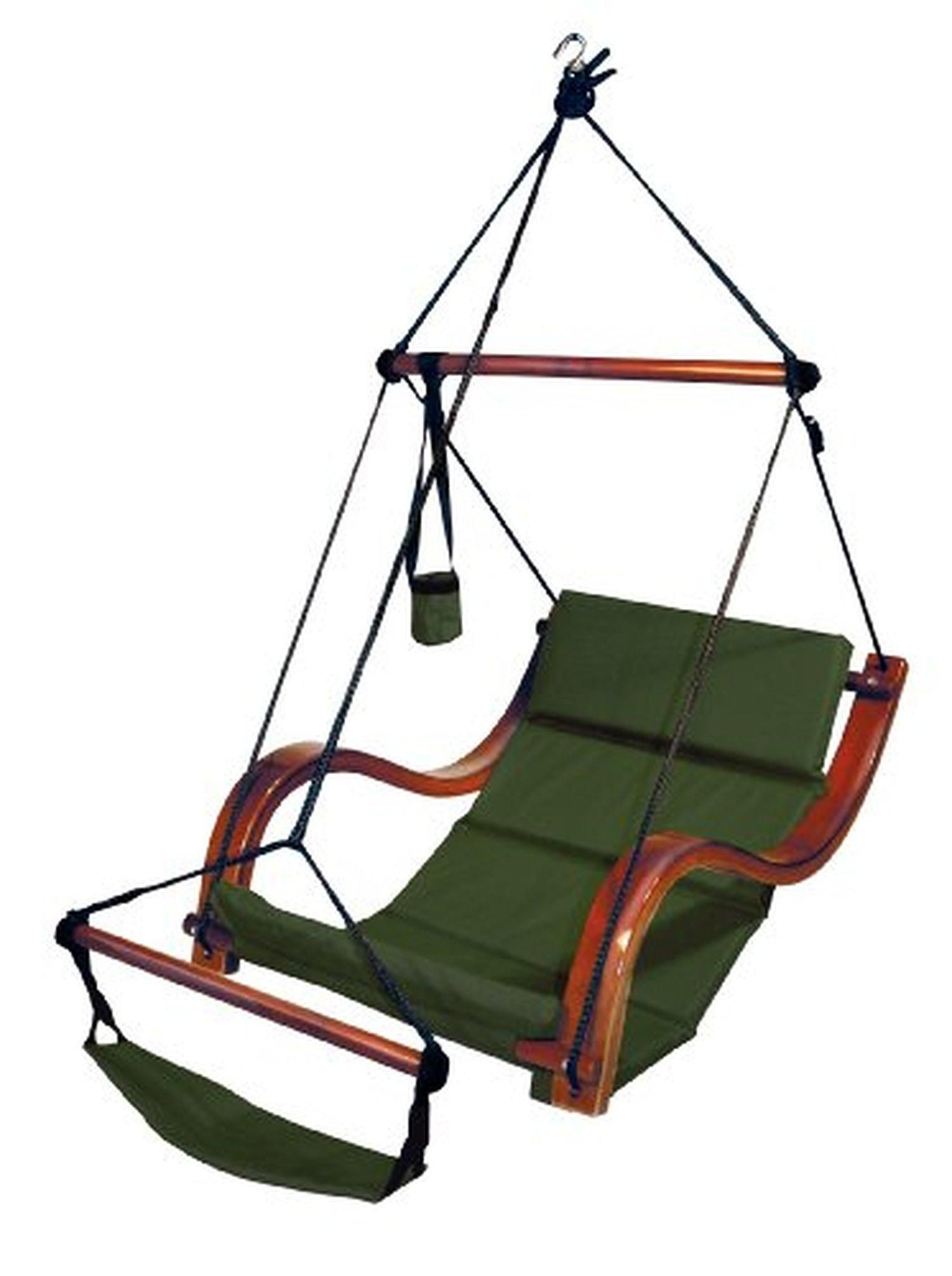 Hammaka nami deluxe hanging hammock lounger chair in green brought