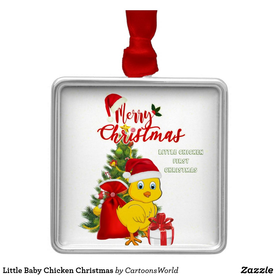 Little Baby Chicken Christmas Metal Ornament | Christmas Mood ...