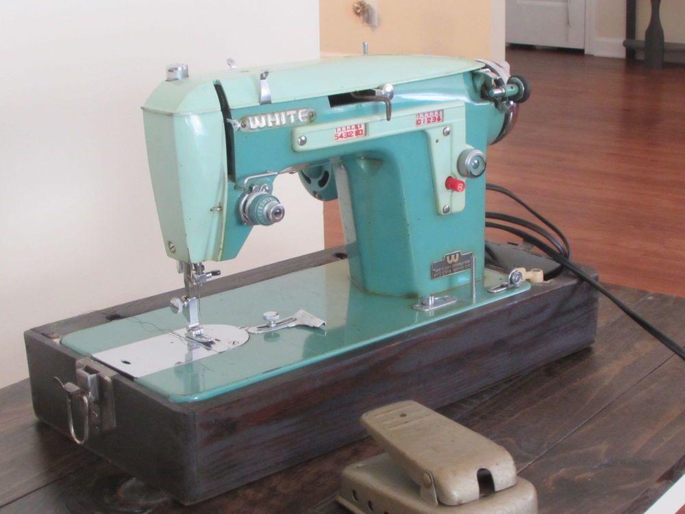 VINTAGE 40'S WHITE SEWING MACHINE MODEL 40 Garage Sale Adorable White Sewing Machine For Sale