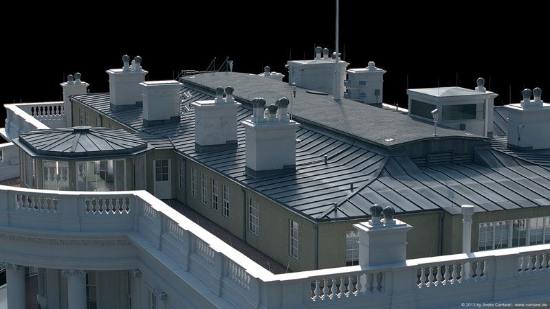 white house cool 3d concepts andré cantarel white house 3d model