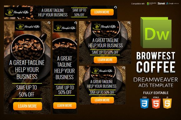 HTML5 Banner Dreamweaver Template by on3-step on @creativemarket