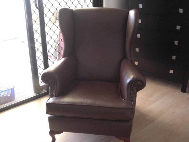 Beautiful Leather Antique Chair Antiques Gumtree Australia