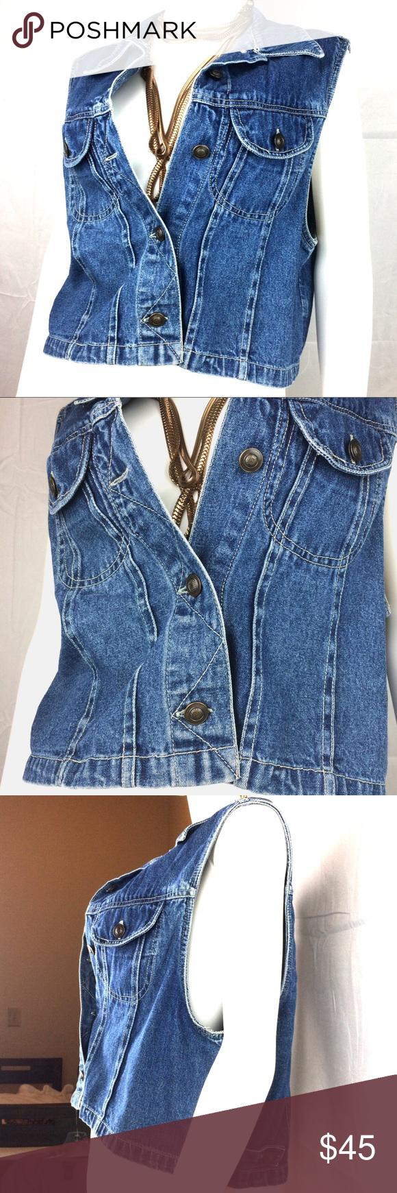 Vintage Denim Jacket Vest Sleeveless Blue Jean Y2k Vintage Denim Jacket Vintage Denim Blue Jean Dress [ 1740 x 580 Pixel ]