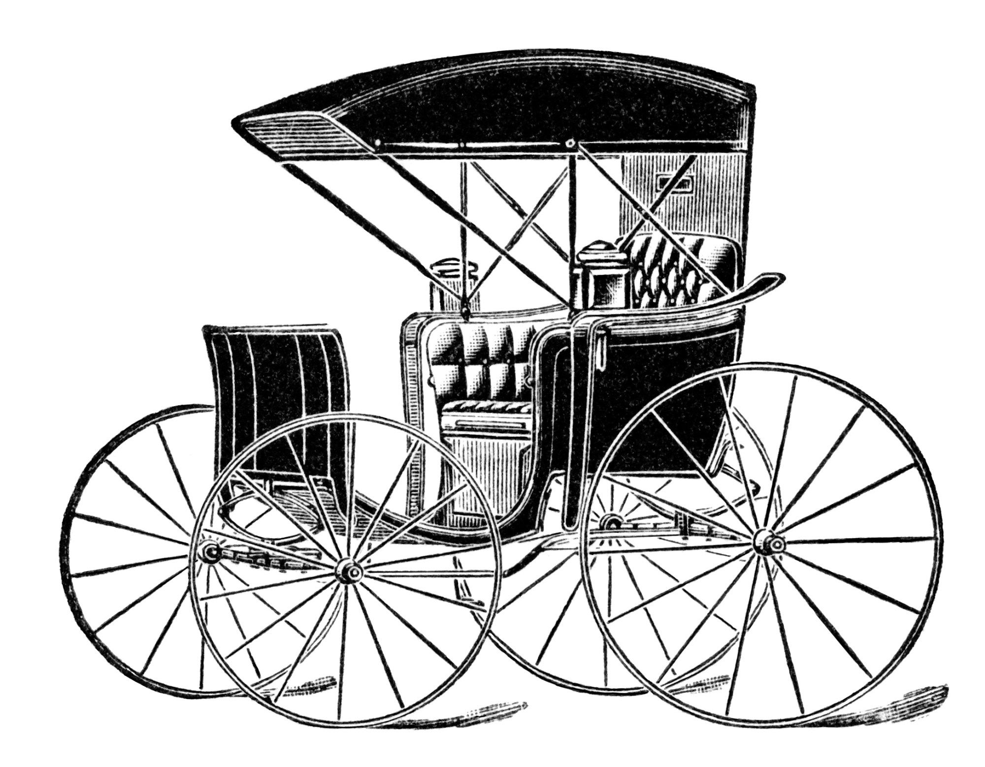 Horse Drawn Carriage Clip Art, Vintage Transportation