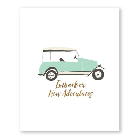 New Car Quotes >> Embark On New Adventures Travel Quote Art Wanderlust Print